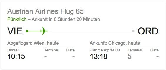 Flugstatus via Google abfragen