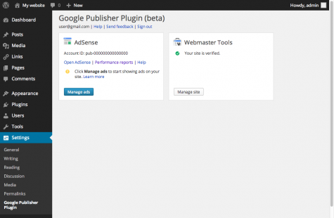 Google WordPress Plugins Screenshot